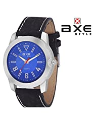 AXE Style Ablaze Collection Casual Analogue Men's Watch - X0156S_Blue