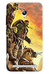 Blue Throat Cartoon Man With Sword Printed Designer Back Cover/Case For Asus Zenfone Go