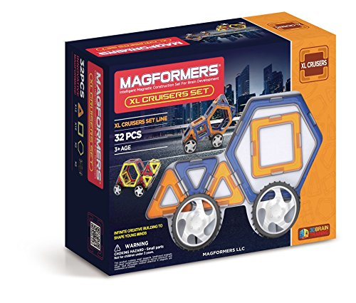 Magformers XL Cruisers Set (32-pieces) (colors may vary) JungleDealsBlog.com