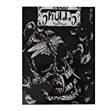 Imported 50 Pages Tattoo Reference Book Instruction Sheet Flash Art Skull Skeleton