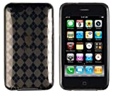 Grey Argyle Pattern Flexible TPU Case for Apple iPod Touch 2G, 3G (2nd & 3rd Generation)