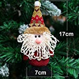 Generic Snowman : 2017 Hot Sale Santa Claus Snow Man Reindeer Doll Christmas Decoration Xmas Tree Hanging Ornaments...
