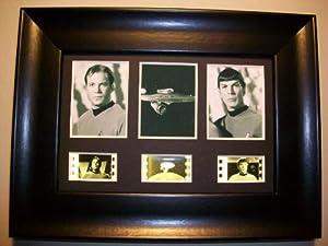 STAR TREK TOS Framed Trio 3 Film Cell Display Collectible Movie Memorabilia