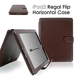 CaseCrown Regal Horizontal Case for iPad 2 - Brown