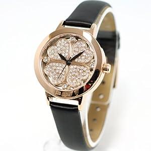 フォリフォリ Folli Follie 腕時計 レディース ミニ ハート フォー ハート Mini Heart 4 Heart WF2R005SSZ-BK [正規輸入品]