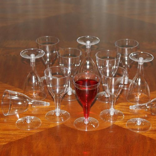 5 Oz Plastic Disposable Wine Glasses - Pack Of 12