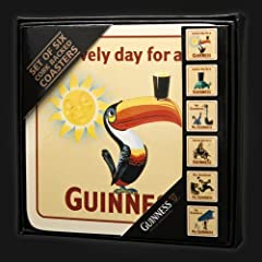 Guinness Heritage Cork Back Coasters 6PK