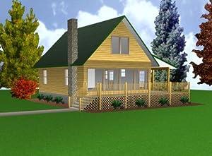 24x32 Cabin w/Loft Plans Package, Blueprints & Material List | Amazon ...