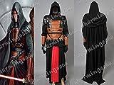 Star Wars Cosplay Darth Revan Black Costume Leather Full Set (Male S)