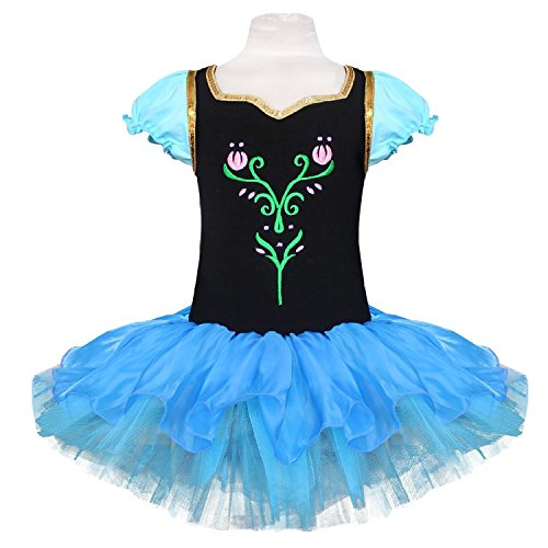 MAXGIRL Big Girls Princess Ballet Snowflake Tutu Dancewear Party Dress