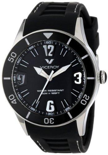 Viceroy 42108-55 - Reloj unisex, correa de goma color negro