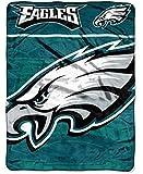 PHILADELPHIA EAGLES NFL MICRO RASCHEL BLANKET (LIVING LARGE SERIES) (46IN X 60IN)