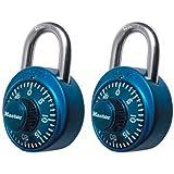 Master Lock 1530T Combination Padlock, Bright Metallic, 2-Pack