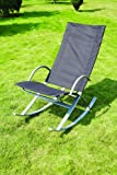 Deluxe Garden Patio Rocking Relaxer Chair - Powder Coated Steel Frame
