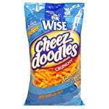Wise Snacks Cheez Doodles, Crunchy, 12-Ounce Bags (Pack of 8) ~ Wise