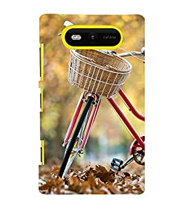 printtech Park Bike Back Case Cover for Nokia Lumia 820