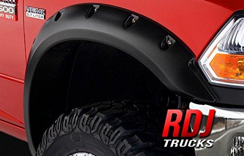 RDJ Trucks Pocket & Bolt Fender Flares - Dodge Ram 1500 2009-2016 - Set of 4 - Textured Black Finish (Fender Flares 2010 Dodge Ram 1500 compare prices)