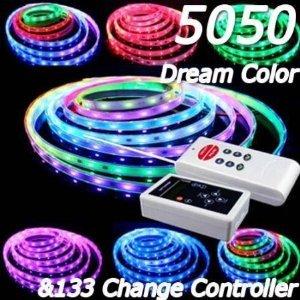 Xkttsueercrr 5M 5050 Rgb Dream Magic Color 6803 Ic Led Strip Light Flexible Waterproof + 133 Change Rf Rmote