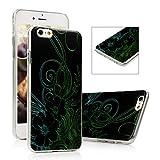 iPhone 6S Plus Funda - Lanveni® Chic Carcasa rígida ultrafina Ultra Slim Dura PC para iPhone 6S Plus 5.5 pulgadas Transparente Case - Patrón flor de la vid Diseño