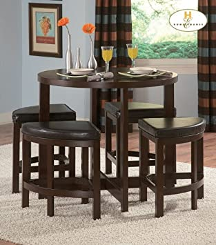 Brussel II 5pc Dinette Set in Warm Brown Cherry