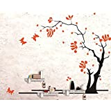 Dream Wall Decal with In-Built Shelves, Orange Tree