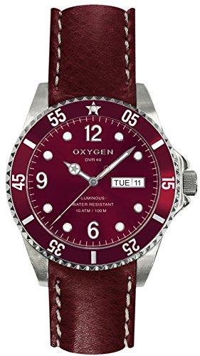 OXYGEN EX-D-GRA-40-CL-PL - Reloj de pulsera unisex, piel, color rojo