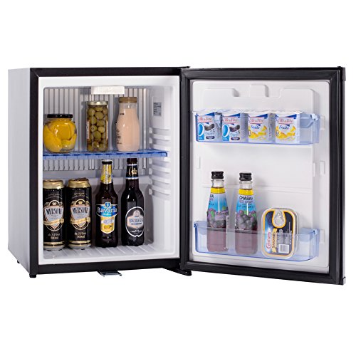 SMAD 30L Hotel Mini Fridge Compact Absorption Minibar with Lock,Black,110V/12V (Fridge Without Freezer compare prices)