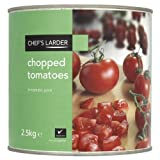 Chef's Larder Chopped Tomatoes 2.5kg (Pack of 6)