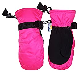 N\'Ice Caps Kids Thinsulate and Waterproof Snowboarder Mitten (2-3yrs, Neon Pink)