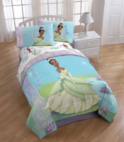 Princess And The Frog Purple Vine Twin Comforter front-89011