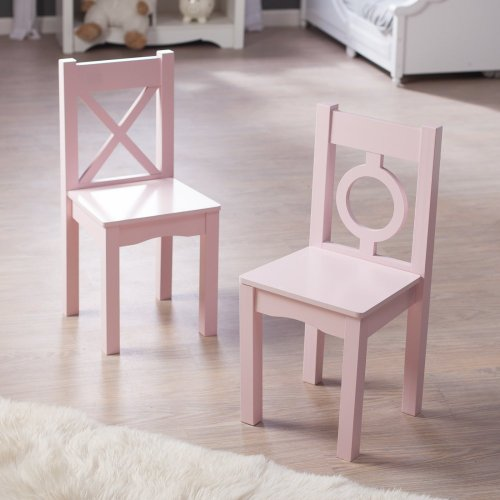 Lipper International Child'S Chair, Light Pink, Set Of 2 front-1038491