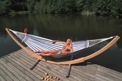 Lola Brasil Gigant Gestell mit Madeira azurblau Hängemattenset XXXL online kaufen