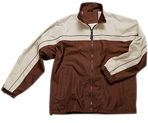 Apparel No. 5 Men's 2-Tone Windbreaker Jacket,X-Large,Dark Chocolate/Sand