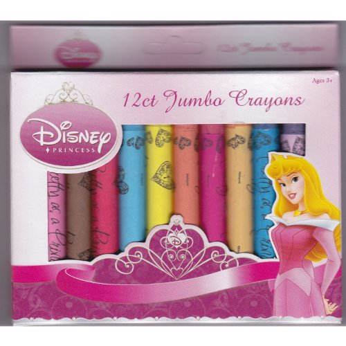 12ct Disney Princess Non-Toxic Jumbo Crayons
