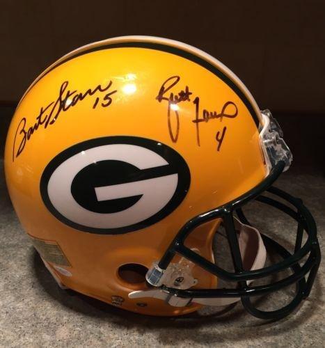 Brett Favre Signed Helmet - Bart Starr Game Model Pro - JSA Certified - Autographed NFL Helmets