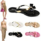 WOMENS LADIES JELLY JELLIES TOE-POST FLAT BEACH SUMMER FLIP FLOP THONG SANDALS