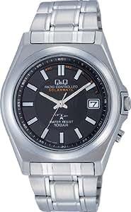 [シチズン キューアンドキュー]CITIZEN Q&Q 腕時計 SOLARMATE (ソーラーメイト) 電波ソーラー アナログ表示 10気圧防水 ブラック HG08-202 メンズ