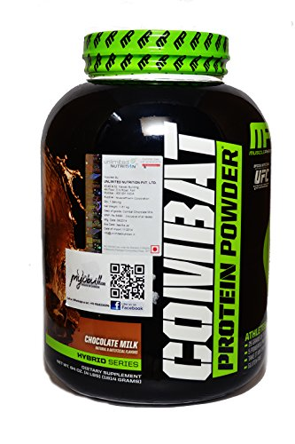 Combat protein powder by Muscle Pharm combines 4 types of proteins ranging from extremely fast digesting to extremely slow digesting. With this you can feed your body amino acids for up to 8 hours.  It comprises of 5 sources of protein - whey isolated, whey concentrate, whey hydrolysate, micellar cassein and egg albumen. Most of the protein powders are made almost entirely from whey which is great. Whey has high biological value, gets absorbed super fast and is loaded with BCAA s.   However after the whey is digested and absorbed there is no amino acids in your blood stream for the next few hours. Think about it, lets say, you are taking a protein shake and the next protein meal after that shake might be 3-4 hours later, maybe even more, depending on your schedule. The whey would at the most take an hour and a half to get absorbed completely. What about the remaining 2-3 hours before you again feed yourself protein ?   This is where a combination of different proteins, varied in their absorption timing comes to help. Combat protein powder provides just that. It provides rapid absorbing, fast absorbing, medium absorbing and slow absorbing proteins all in one. An indispensable protein powder in my opinion.