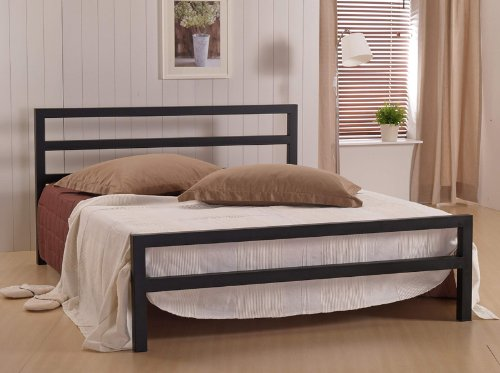 CITY BLOCK BLACK DOUBLE (4FT6) METAL BED FRAME £138.00