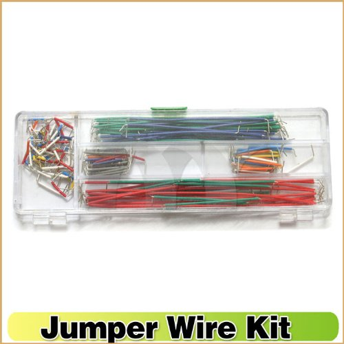 Sunkee 140Pcs Breadboard Jumper Cable Wire Kit With Box For Arduino Board ,14 Kinds Lengths