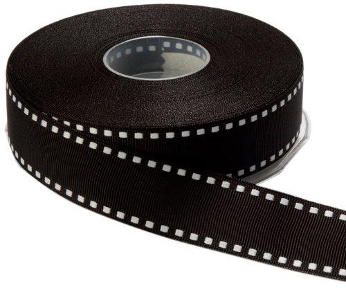 May Arts 1-Inch Wide Ribbon, Black Grosgrain