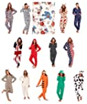 WOMENS ONESIES FULL LENGTH FLEECE ONE...