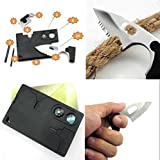 9 in 1 Pocket Card Tool Knife Compass Awl Tweezer Key-Chain Survival Card Multi Tool
