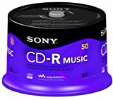 Sony 50CRM80RS 50 CR-R Music Recordable Discs Spindle