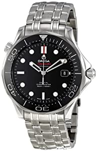 Omega Men's 212.30.41.20.01.003 Seamaster Black Dial Watch