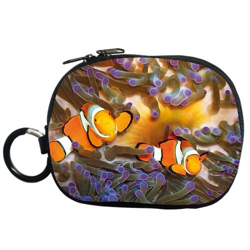 Generic Personalized Cartoon Design Clown Fish And Floating Algae For Coin Purse (Two Side) front-186073