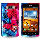 CoverON® Hard Cover Case with BUTTERFLY BLISS Design for LG US730 AS730 SPLENDOR / VENICE / OPTIMUS SHOWTIME L86c / OPTIMUS ULTIMATE With PRY- Triangle Case Removal Tool [WCJ354]
