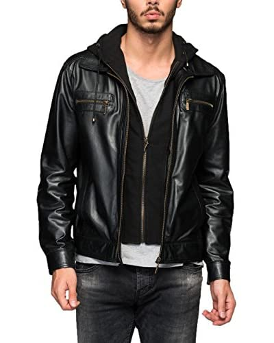 DEDA LEATHER Giacca Pelle [Nero]