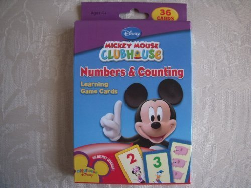 Mickey Mouse Clubhouse Numbers & Counting Learning Game Cards