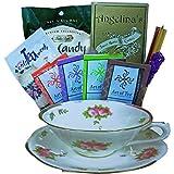 Art of Appreciation Gift Baskets Tea Time Treats Tea Cup Shaped Gift Bag Tote